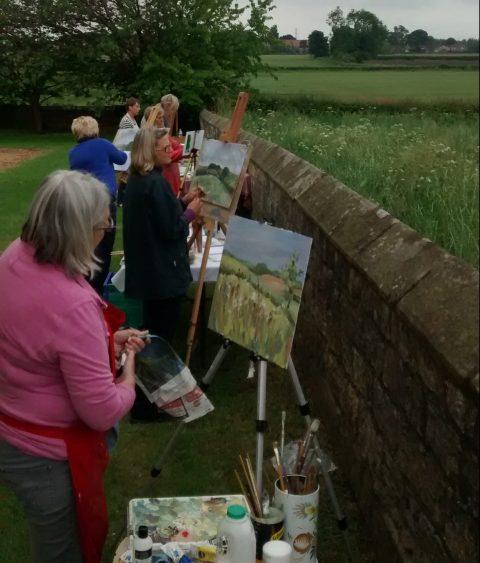 Art class in the open air